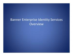 Banner Enterprise Identity Services Overview