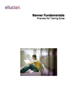 Banner Fundamentals Financial Aid Training Guide