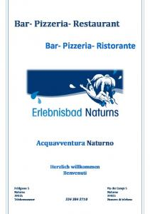 Bar- Pizzeria- Restaurant