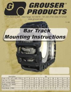 Bar Track Mounting Instructions