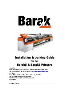 Barak5 & Barak3 Printers