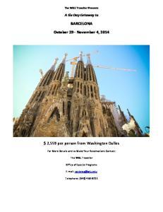 BARCELONA. October 29 - November 4, 2014