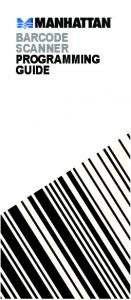 BARCODE SCANNER PROGRAMMING GUIDE