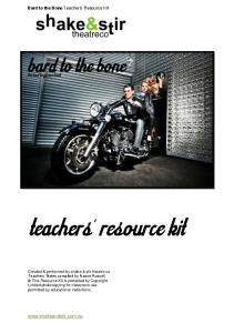 Bard to the Bone Teachers Resource Kit