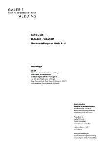 BARE LIVES Eine Ausstellung von Mario Rizzi
