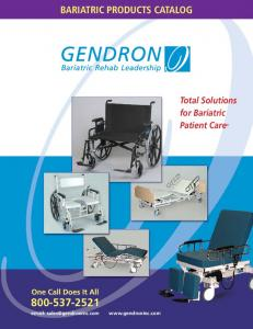 BARIATRIC PRODUCTS CATALOG