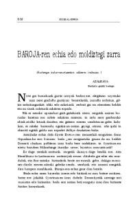 BAROJA-ren echia edo moldiztegi zarra