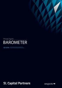 BAROMETER. Private Equity Q Q Preliminary Data