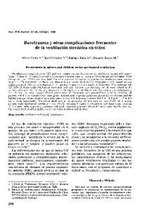 Barotrauma y otras complicaciones frecuentes de la ventilacion mecanica en nifios