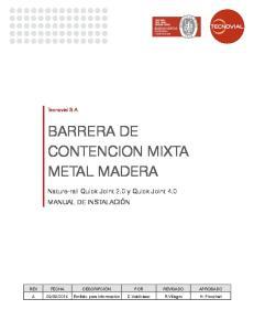 BARRERA DE CONTENCION MIXTA METAL MADERA