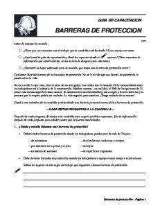 BARRERAS DE PROTECCION