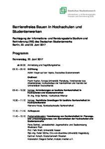 Barrierefreies Bauen in Hochschulen und Studentenwerken
