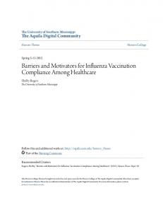 Barriers and Motivators for Influenza Vaccination Compliance Among Healthcare