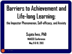 Barriers to Achievement and Life-long Learning: