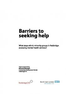 Barriers to seeking help