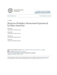 Barriers to Workplace Advancement Experienced by Native Americans