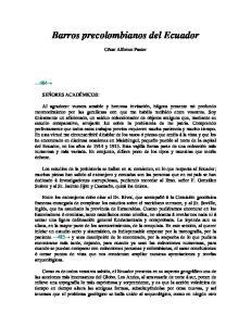 Barros precolombianos del Ecuador