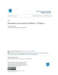 Bartenders Association of Ireland - A History