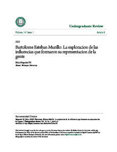 Bartolome Esteban Murillo: La exploracion de las influencias que formaron su representacion de la gente