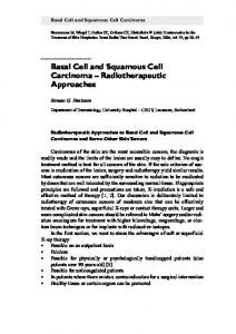Basal Cell and Squamous Cell Carcinoma Radiotherapeutic Approaches