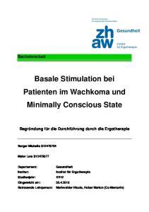 Basale Stimulation bei Patienten im Wachkoma und Minimally Conscious State