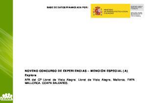 BASE DE DATOS FINANCIADA POR: