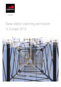 Base station planning permission in Europe 2013
