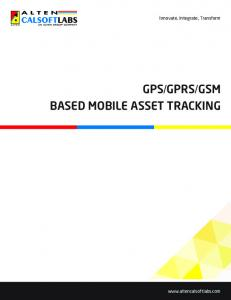 BASED MOBILE ASSET TRACKING