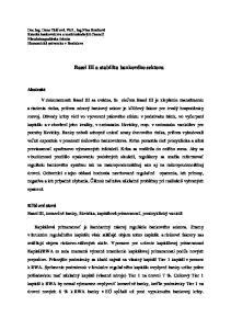Basel III a stabilita bankového sektora