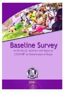 Baseline Survey on the level of awareness and impact of CEDAW on rural women in Kenya