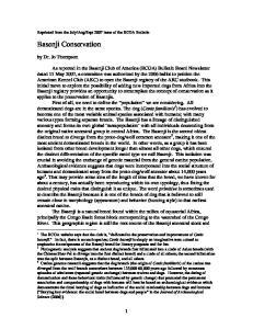 Basenji Conservation. by Dr. Jo Thompson