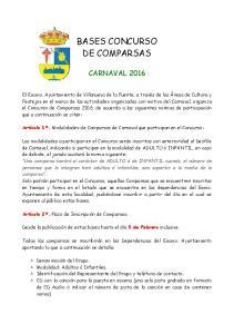 BASES CONCURSO DE COMPARSAS