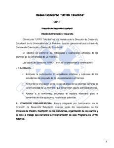 Bases Concurso UFRO Talentos