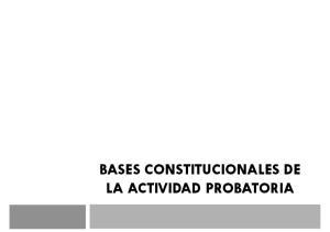 BASES CONSTITUCIONALES DE LA ACTIVIDAD PROBATORIA