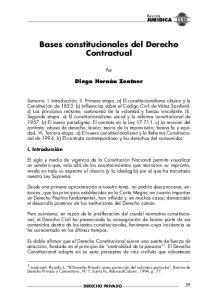 Bases constitucionales del Derecho Contractual