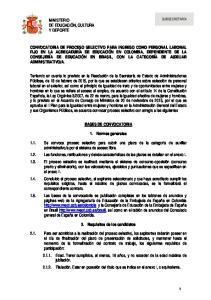 BASES DE CONVOCATORIA. 1. Normas generales. 2. Requisitos de los candidatos