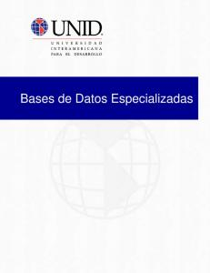 Bases de Datos Especializadas