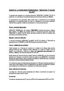 BASES DE LA CONCURSO PROMOCIONAL VODAFONE YU MUSIC TALENT