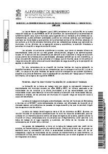 BASES DE LA CONVOCATORIA DE UNA BOLSA DE TRABAJO PARA EL FOMENTO DEL EMPLEO