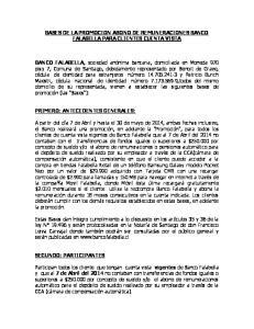 BASES DE LA PROMOCION ABONO DE REMUNERACIONES BANCO FALABELLA PARA CLIENTES CUENTA VISTA