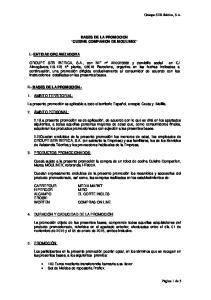 BASES DE LA PROMOCION CUISINE COMPANION DE MOULINEX
