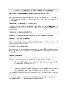 BASES DE LA PROMOCION GIRA MAHOU: MCLAN BILBAO