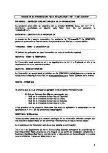 BASES DE LA PROMOCION SAN MIGUEL BCN TAST - INSTAGRAM