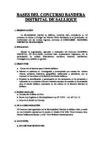 BASES DEL CONCURSO BANDERA DISTRITAL DE SALLIQUE