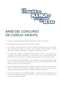 BASES DEL CONCURSO DE COSPLAY INFANTIL