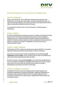 Bases del concurso de la convocatoria Health4Good