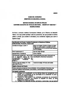 BASES DEL CONCURSO MINISTERIO DE DESARROLLO SOCIAL