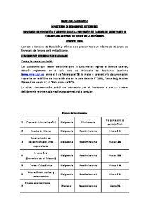 BASES DEL CONCURSO MINISTERIO DE RELACIONES EXTERIORES