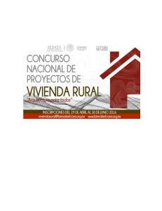 BASES DEL CONCURSO NACIONAL DE PROYECTOS DE VIVIENDA RURAL