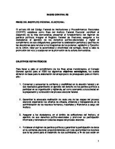 BASES GENERALES FINES DEL INSTITUTO FEDERAL ELECTORAL